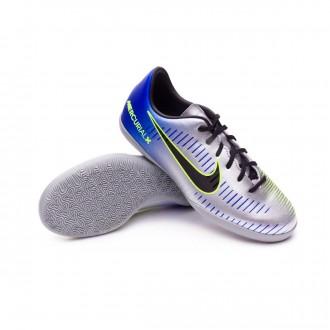 Sapatilha de Futsal  Nike MercurialX Victory VI IC Neymar Criança Racer blue-Black-Chrome-Volt