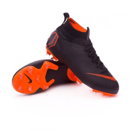 Scarpe Nike Mercurial Superfly VI Elite FG Junior Nero Total arancia