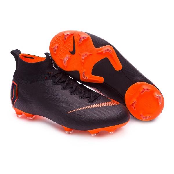 4ccb6124f Football Boots Nike Kids Mercurial Superfly VI Elite FG Black-Total orange-White  - Tienda de fútbol Fútbol Emotion