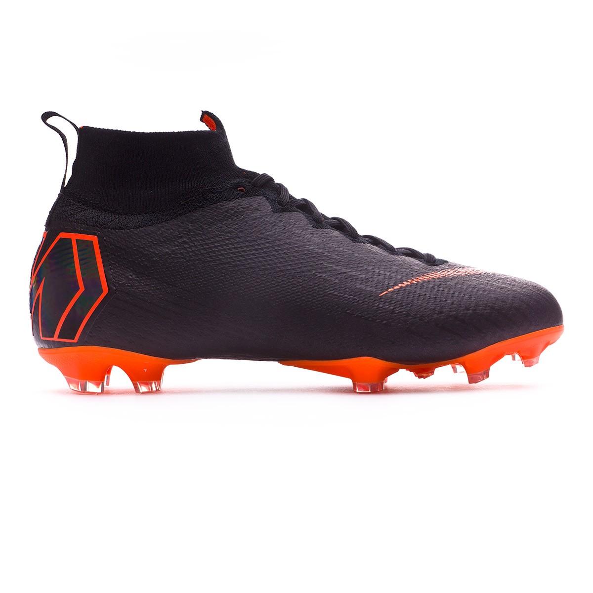 a5850167c Football Boots Nike Kids Mercurial Superfly VI Elite FG Black-Total orange- White - Football store Fútbol Emotion