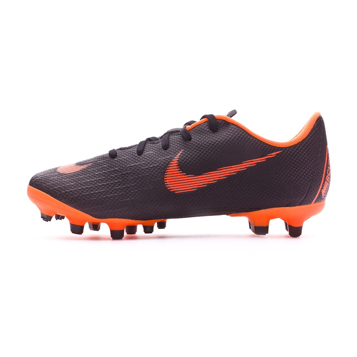e9645d7505a Football Boots Nike Kids Mercurial Vapor XII Academy PS MG Black-Total  orange-White - Football store Fútbol Emotion