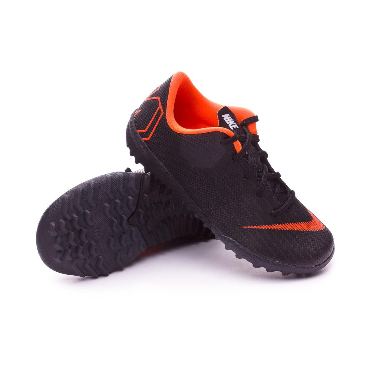 245c0270a069 Football Boot Nike Kids Mercurial VaporX XII Academy PS Turf Black ...