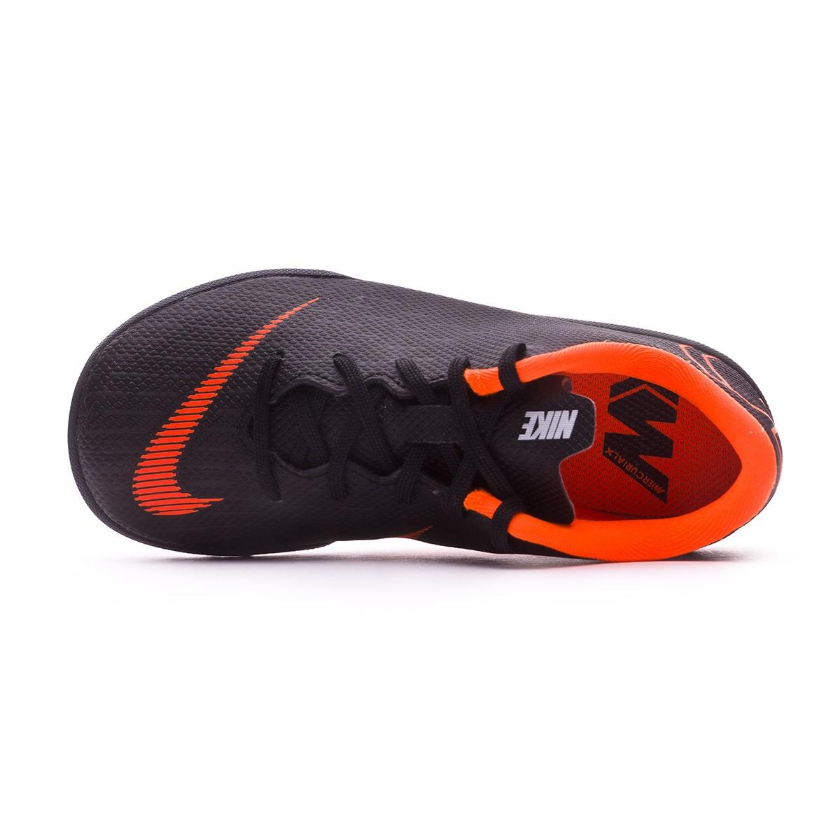 1e89e61b613a Football Boot Nike Kids Mercurial VaporX XII Academy PS Turf Black-Total  orange-White - Football store Fútbol Emotion