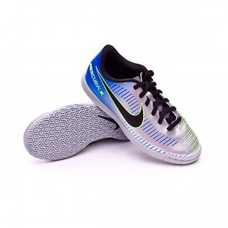 Sapatilha de Futsal  Nike MercurialX Vortex III IC Neymar Crianças Racer blue-Black-Chrome-Volt