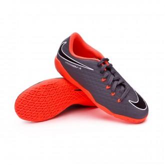 Chaussure de futsal  Nike Hypervenom PhantomX III Academy IC Niño Dark grey-Total orange-White