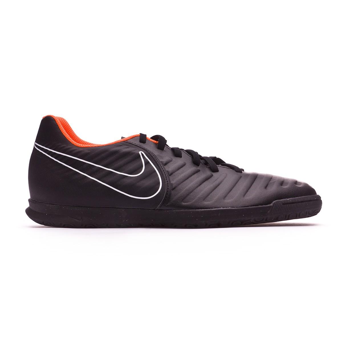 9331bebec Futsal Boot Nike Tiempo LegendX VII Club IC Black-Total orange-White - Football  store Fútbol Emotion