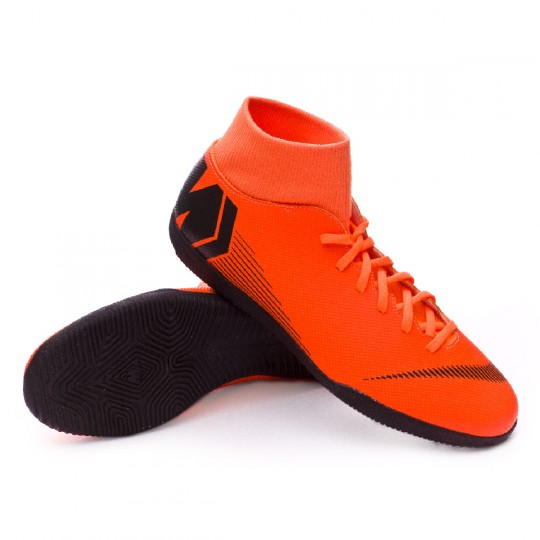 8002121c0c76 Zapatilla Mercurial SuperflyX VI Club IC Total orange-Black-Volt Nike  Mercurial SuperflyX VI Club IC futsal boots ...