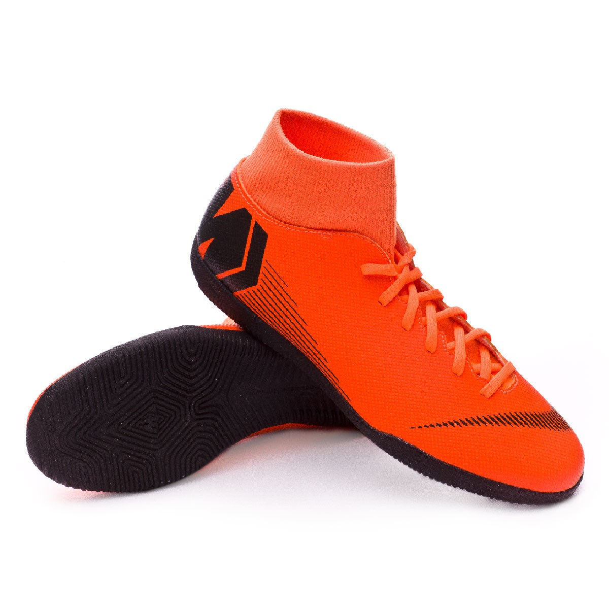 0f950200c785 Futsal Boot Nike Mercurial SuperflyX VI Club IC Total orange-Black ...