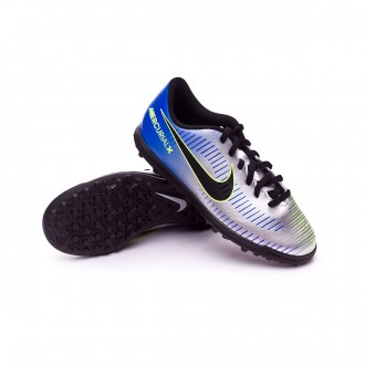 Sapatilha  Nike Jr MercurialX Vortex III Turf Neymar  Racer blue-Black-Chrome-Volt