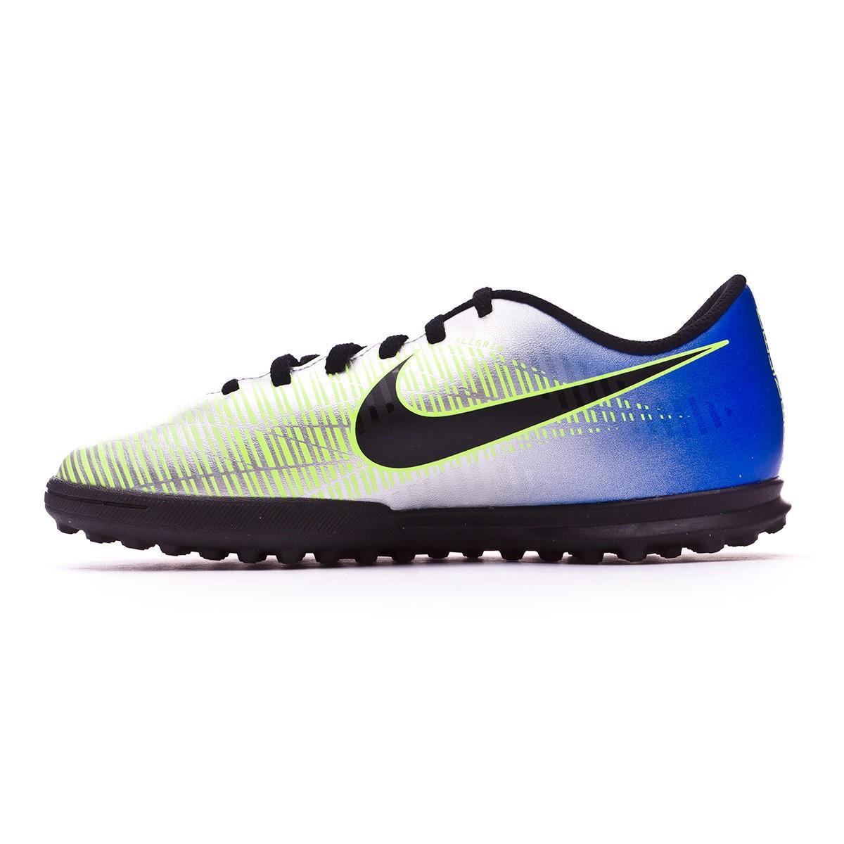Tenis Nike MercurialX Vortex III Turf Neymar Niño Racer  blue-Black-Chrome-Volt - Soloporteros es ahora Fútbol Emotion 149bf6b5caacb