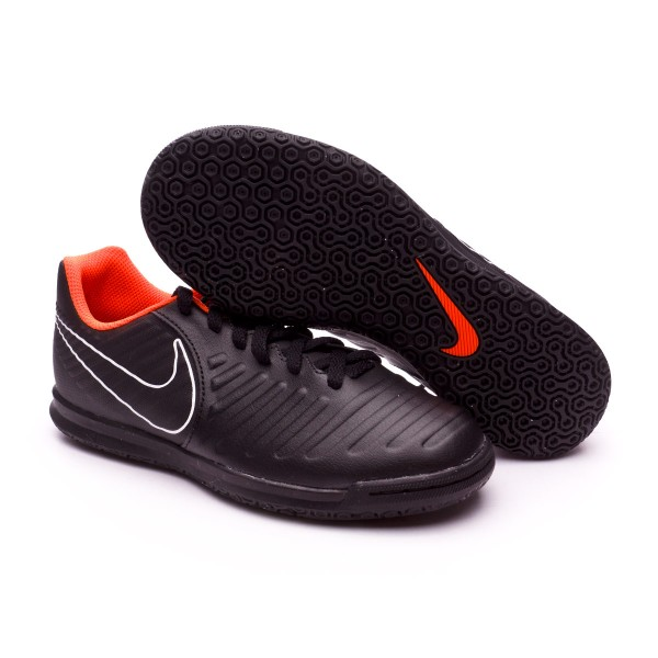 bbc1ab997 Futsal Boot Nike Kids Tiempo LegendX VII Club IC Black-Total orange-White -  Tienda de fútbol Fútbol Emotion