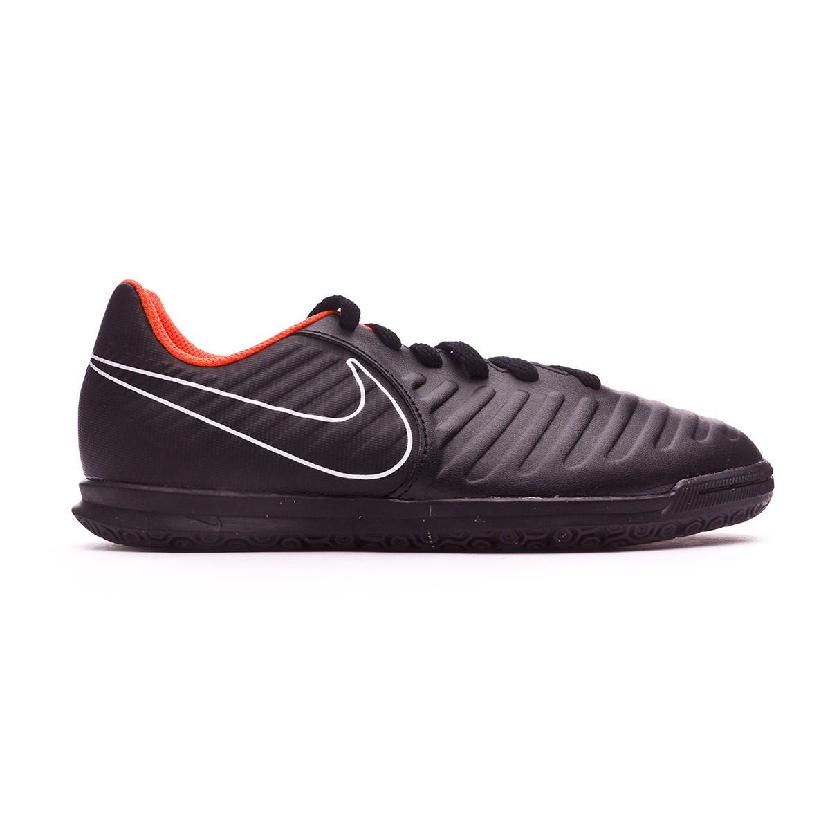 dffa8221a Futsal Boot Nike Kids Tiempo LegendX VII Club IC Black-Total orange-White - Football  store Fútbol Emotion