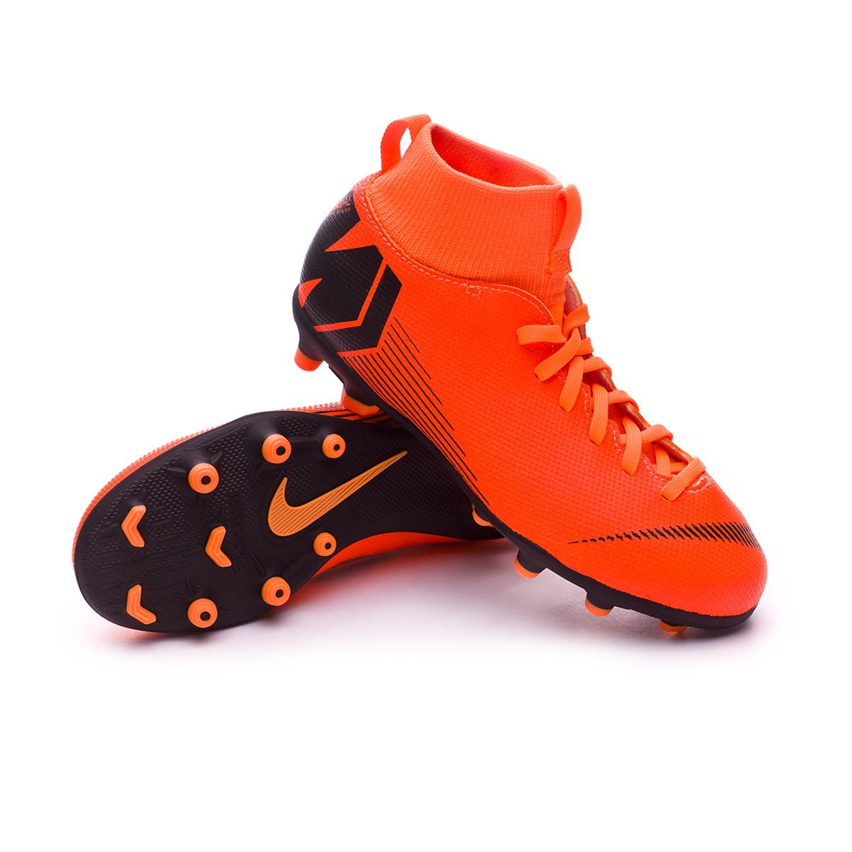 0366e34ee11 Chuteira Nike Mercurial Superfly VI Club MG Crianças Total orange ...