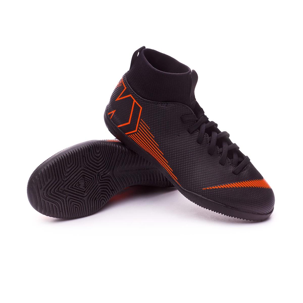78ccce46d8b6c Zapatilla Nike Mercurial SuperflyX VI Club IC Niño Black-Total orange-White  - Tienda de fútbol Fútbol Emotion