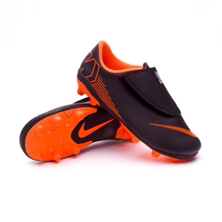 Bota de fútbol Nike Mercurial Vapor XII Club PS Velcro MG Niño Black ... eb5cef6e8fc2f