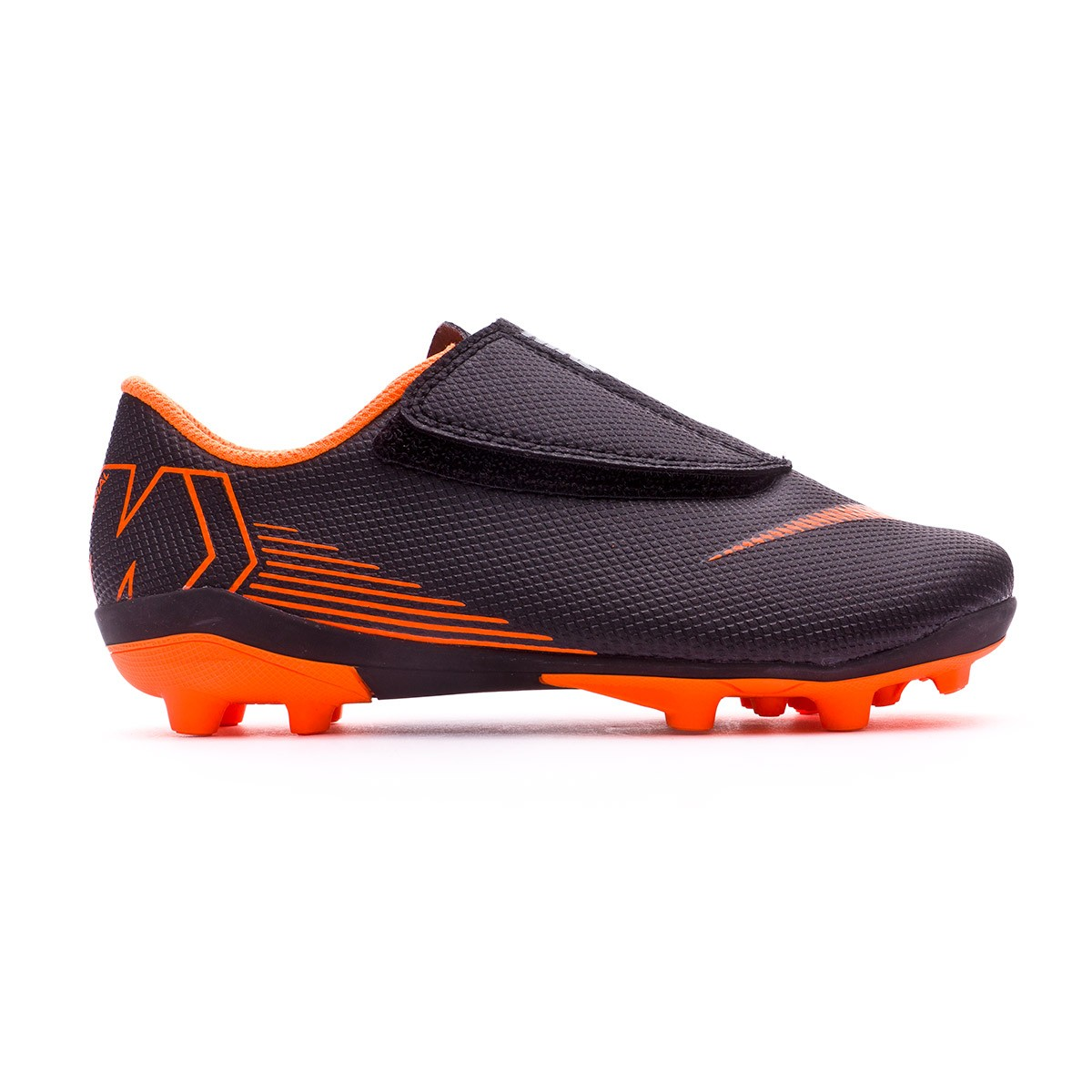 competitive price 97572 4399d Football Boots Nike Kids Mercurial Vapor XII Club PS Velcro MG Black-Total  orange-White - Tienda de fútbol Fútbol Emotion