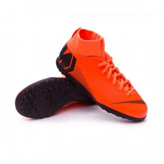 Sapatilhas  Nike Mercurial SuperflyX VI Club Turf Criança Total orange-Black-Volt