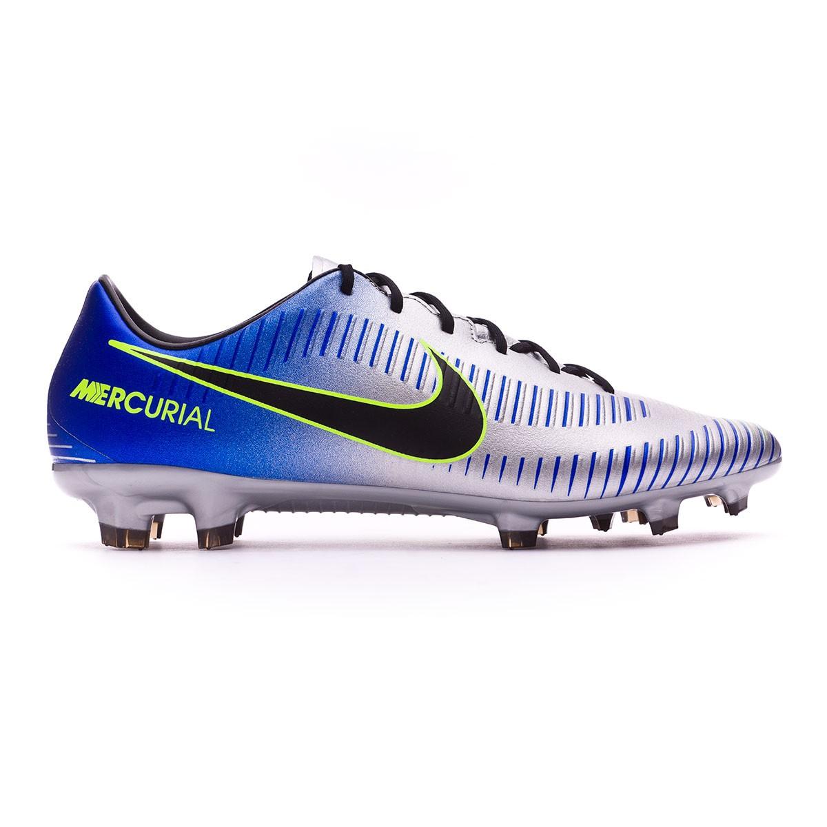 f80ad77ad Football Boots Nike Mercurial Veloce III FG Neymar Racer blue-Black-Chrome-Volt  - Tienda de fútbol Fútbol Emotion