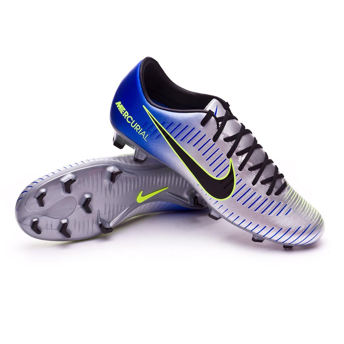 67f47f8ef2 Chuteira Nike Mercurial Victory VI FG Neymar Racer blue-Black-Chrome-Volt -  Loja de futebol Fútbol Emotion