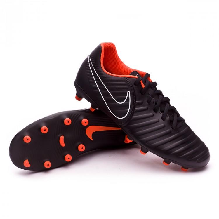 76469619d6 Chuteira Nike Tiempo Legend VII Club FG Black-Total orange-White ...