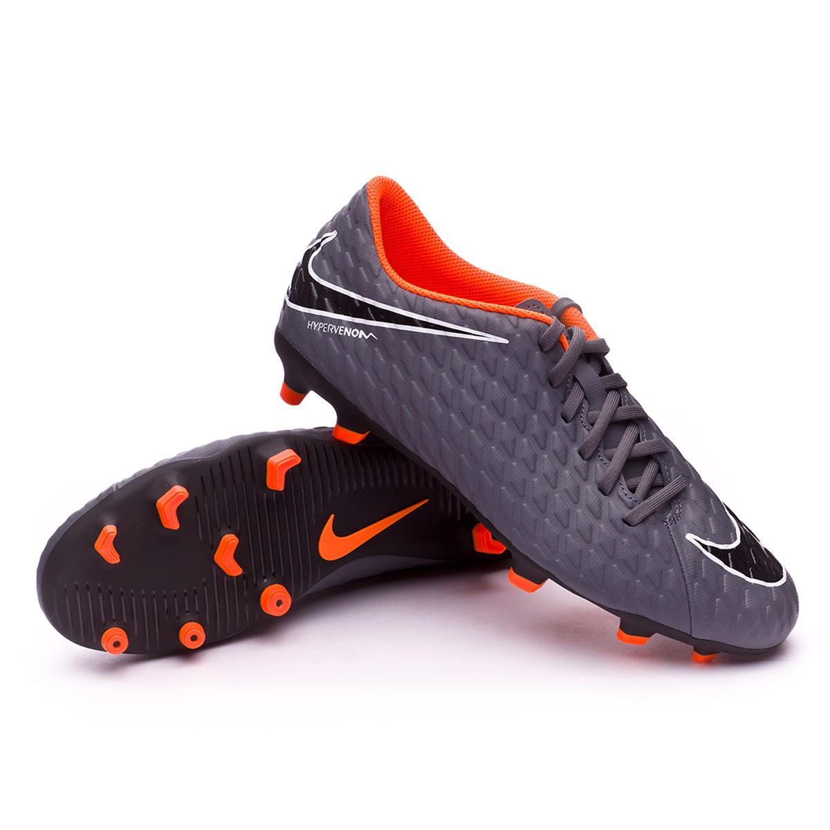 36c34ada438 Boot Nike Hypervenom Phantom III Club FG Dark grey-Total orange ...