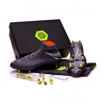Zapatos de fútbol  Nike Hypervenom Phantom III Elite DF SG-Pro Anti-Clog Dark grey-Total orange-White