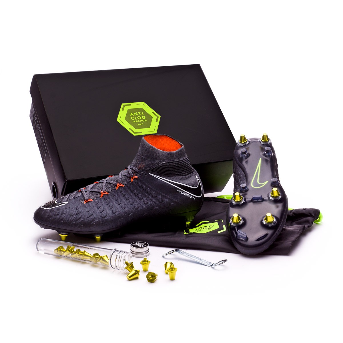 sports shoes 6d2b6 0b1bf ... new zealand boot nike hypervenom phantom iii elite df sg pro anti clog  dark grey 79f07