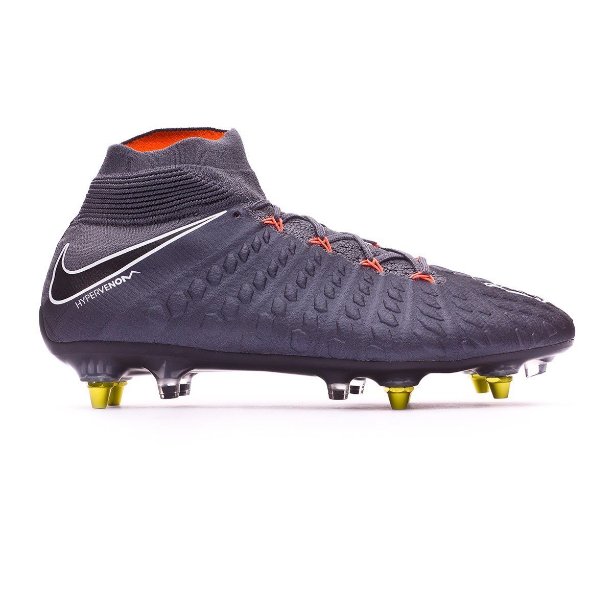 efba02fabfce Football Boots Nike Hypervenom Phantom III Elite DF SG-Pro Anti-Clog Dark  grey-Total orange-White - Football store Fútbol Emotion