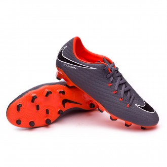 Zapatos de fútbol  Nike Hypervenom Phantom III Academy FG Dark grey-Total orange-White