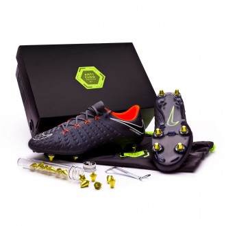 Zapatos de fútbol  Nike Hypervenom Phantom III Elite SG-Pro Anti-Clog Dark grey-Total orange-White