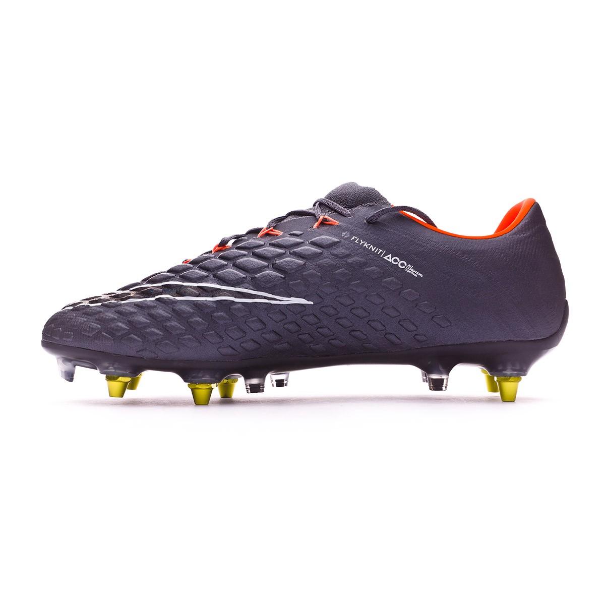 buy popular 1bdbb a69a7 Football Boots Nike Hypervenom Phantom III Elite SG-Pro Anti-Clog Dark  grey-Total orange-White - Football store Fútbol Emotion