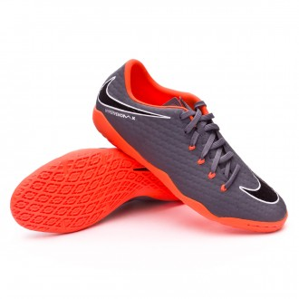 Zapatilla  Nike Hypervenom PhantomX III Academy IC Dark grey-Total orange-White