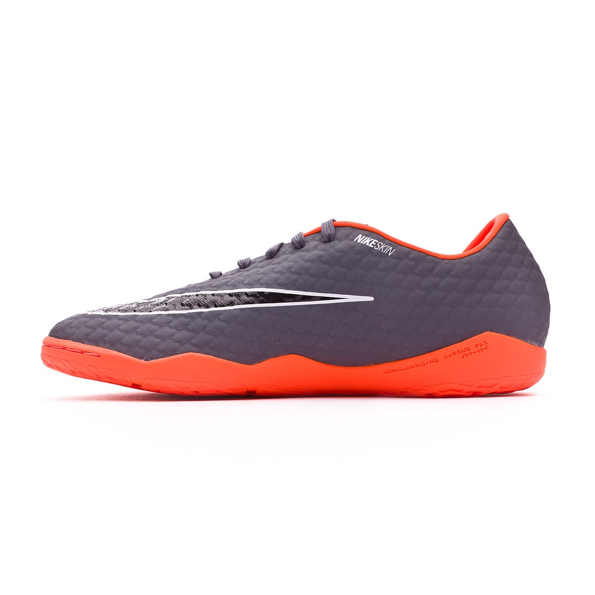 1b366e0ad124 Futsal Boot Nike Hypervenom PhantomX III Academy IC Dark grey-Total  orange-White - Football store Fútbol Emotion