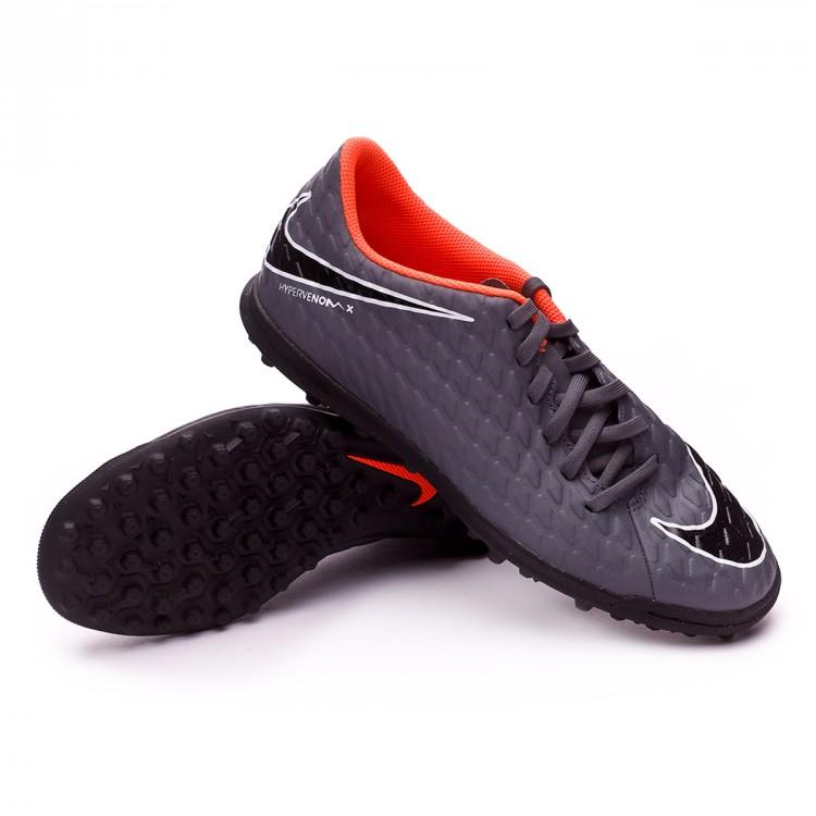 29574e66a8a Football Boot Nike Hypervenom PhantomX III Club Turf Dark grey-Total ...