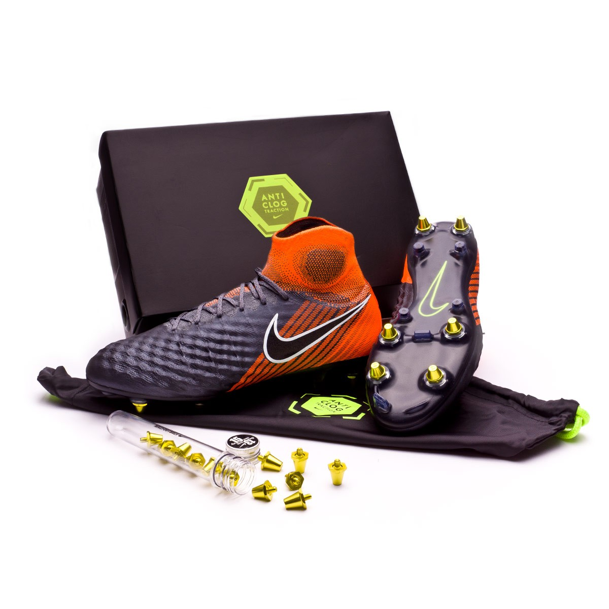 info for 6c746 7fddb Zapatos de fútbol Nike Magista Obra II Elite SG-Pro Anti-Clog Dark  grey-Black-Total orange-White - Soloporteros es ahora Fútbol Emotion