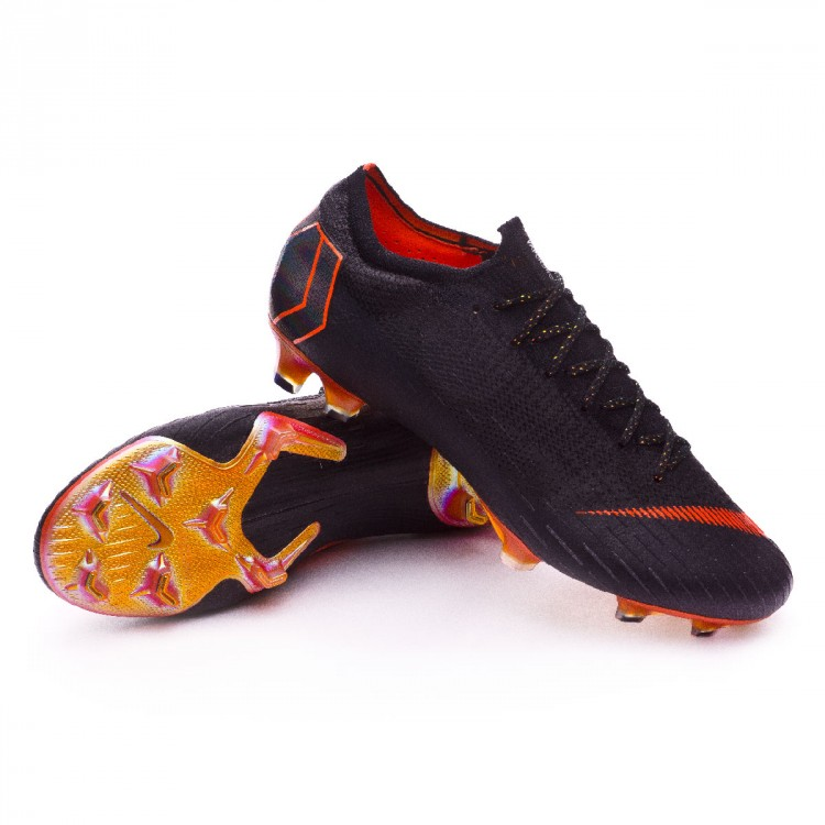 Bota de fútbol Nike Mercurial Vapor XII Elite FG Black-Total orange ... 67cab9330e54e