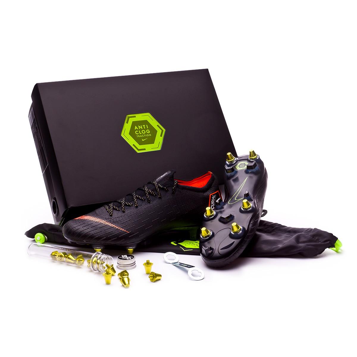7c89f1e43 Football Boots Nike Mercurial Vapor XII Elite SG-Pro Anti-Clog Black ...