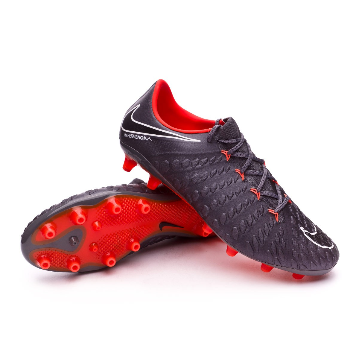 Bota Nike Hypervenom Phantom III Elite AG-Pro Dark grey-Total orange-White