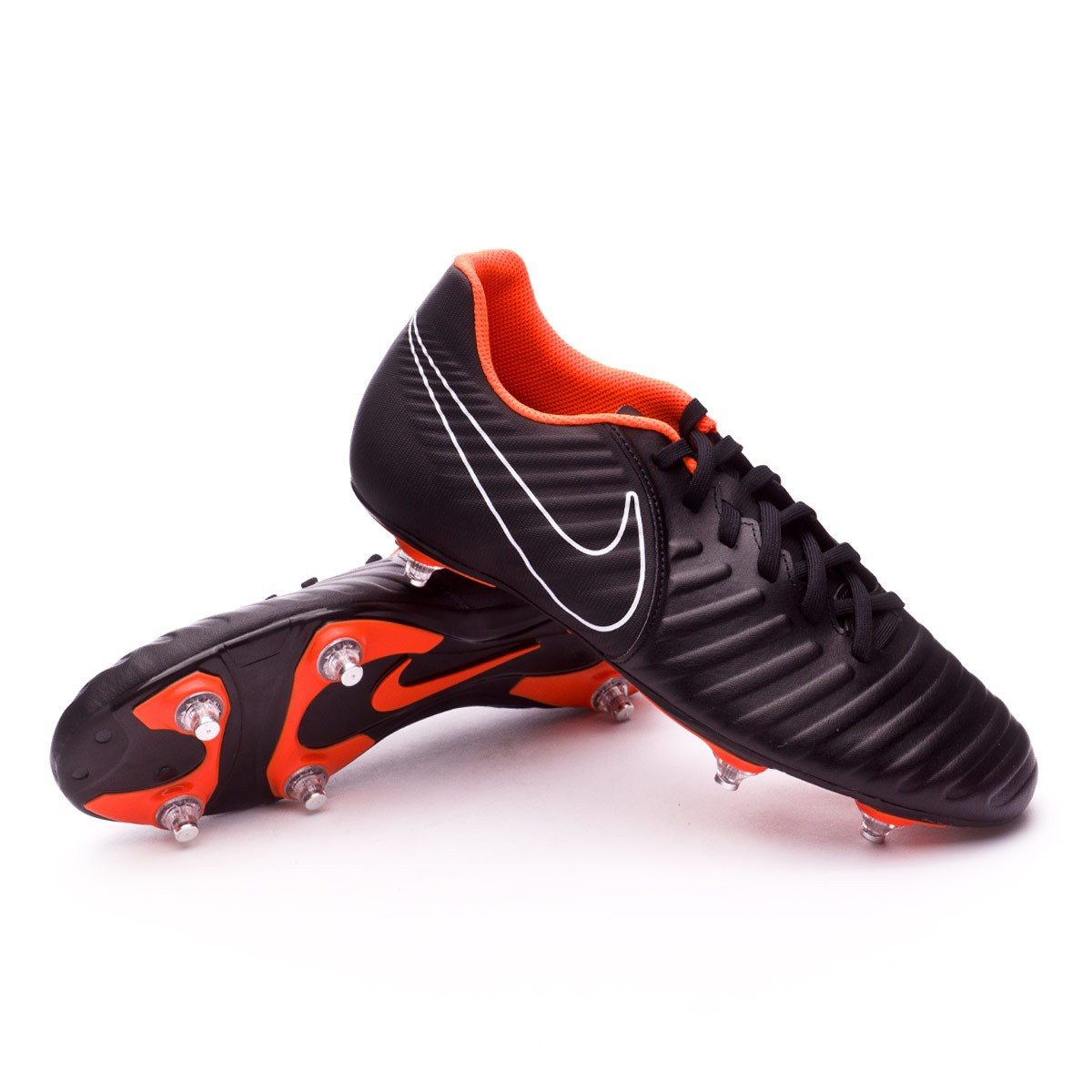 differently 727ac 4a9e7 Bota Tiempo Legend VII Club SG Black-Total Orange-White