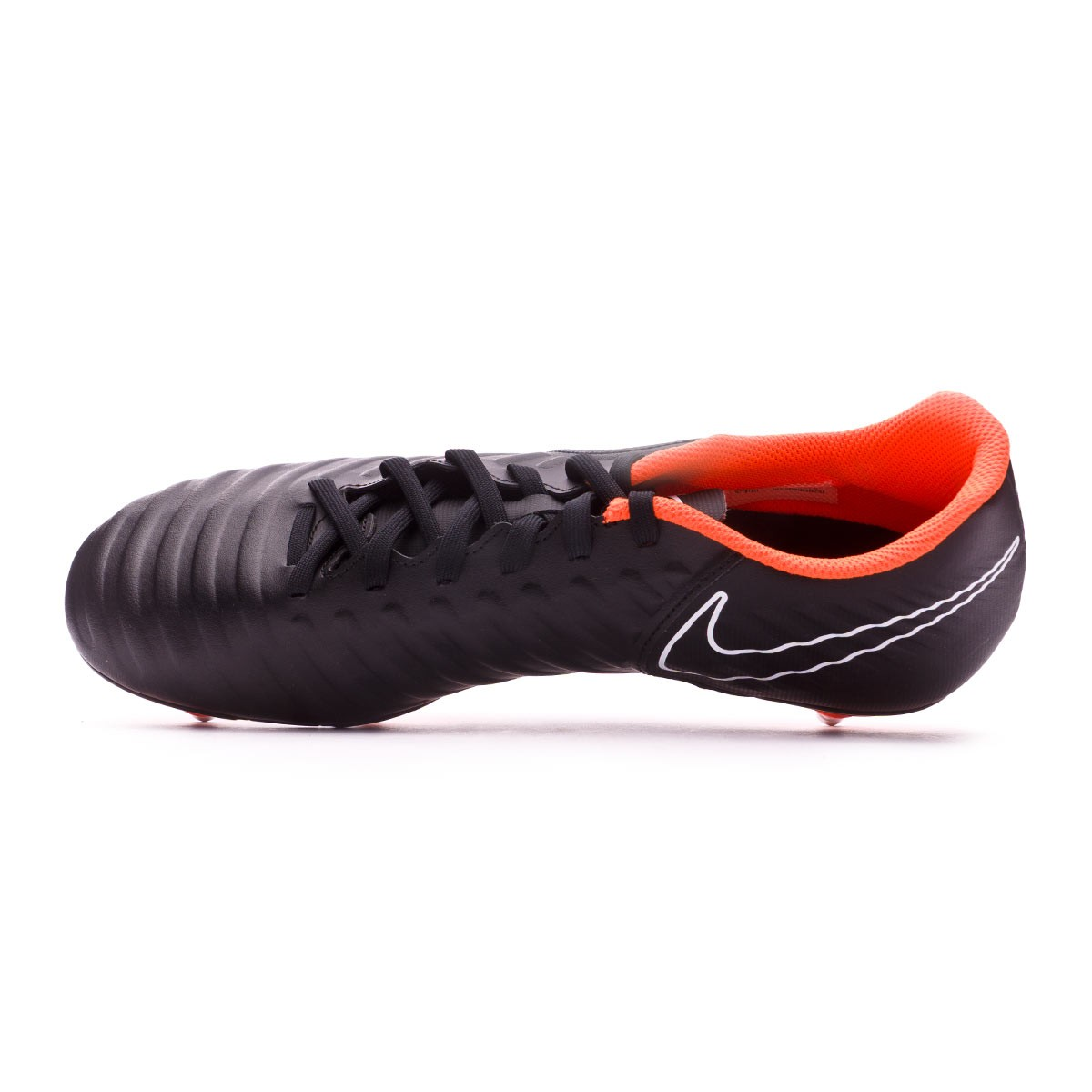 4e5bfaa33 Football Boots Nike Tiempo Legend VII Club SG Black-Total Orange-White -  Football store Fútbol Emotion