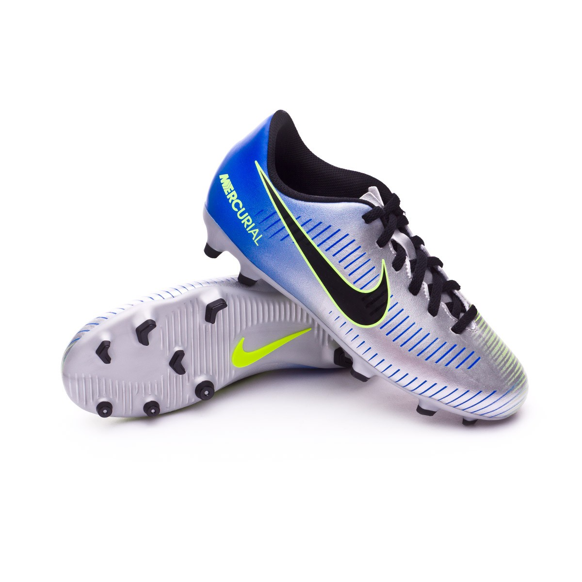 Bota de fútbol Nike Mercurial Vortex III FG Neymar Niño Racer  blue-Black-Chrome-Volt - Leaked soccer 8f2f2141e98ad