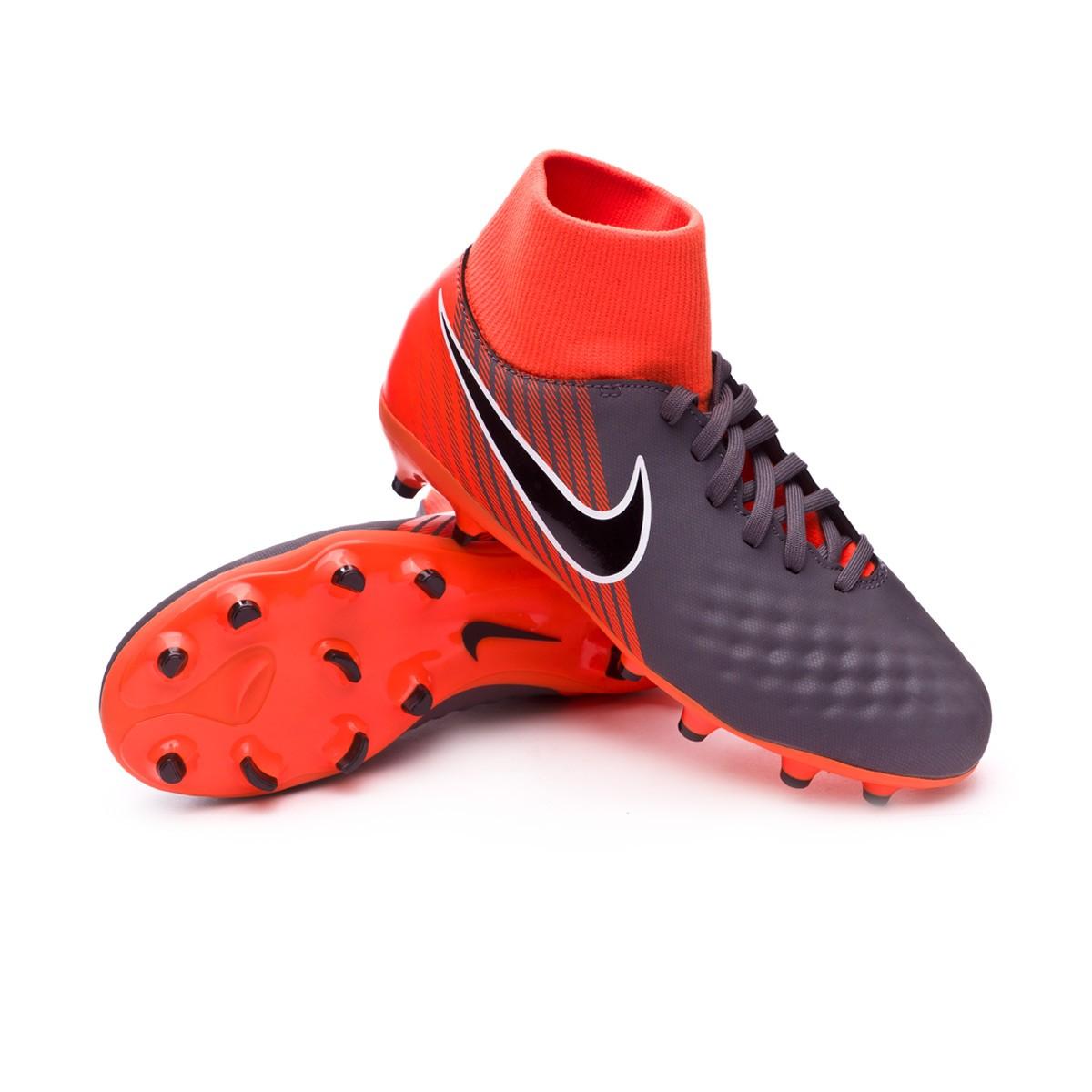 648cdd37bb0 Nike Kids Magista Obra II Academy DF FG Football Boots. Dark grey-Black-Total  orange-White ...