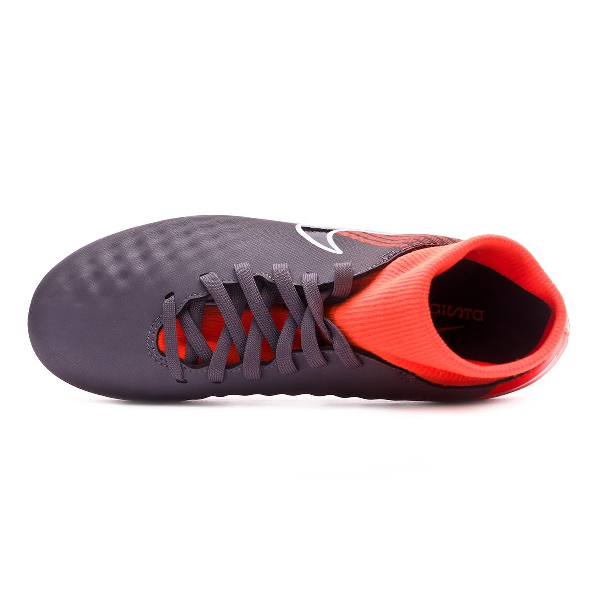 d3ff284c398 Football Boots Nike Kids Magista Obra II Academy DF FG Dark grey-Black-Total  orange-White - Tienda de fútbol Fútbol Emotion