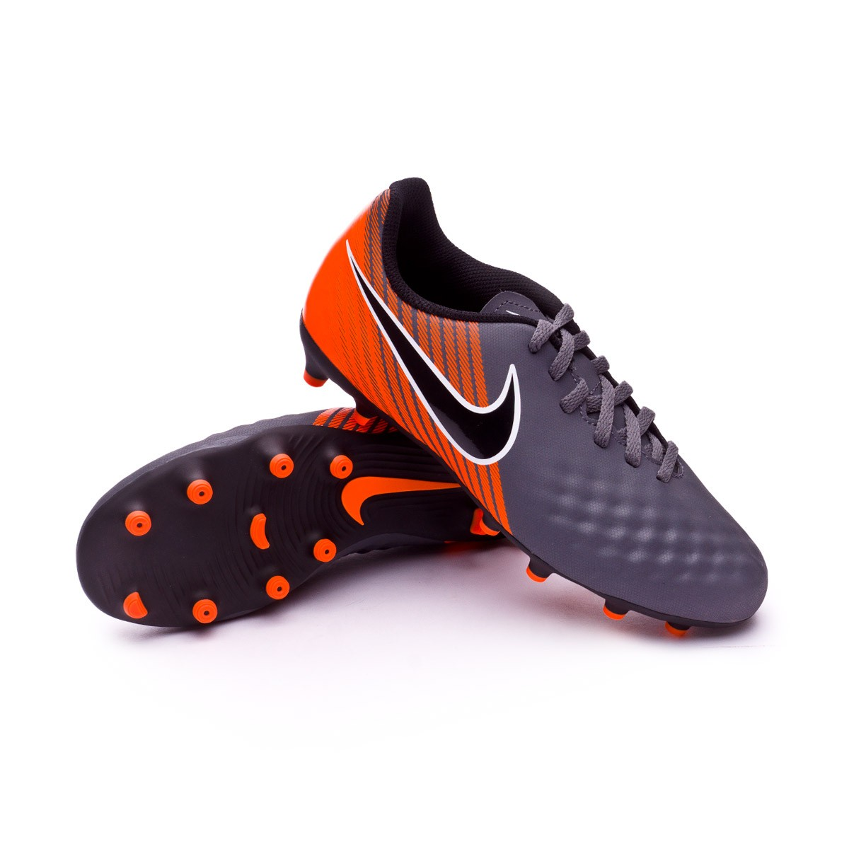 8e83a114fe8 Nike Kids Magista Obra II Club FG Boot. Dark grey-Black-Total orange-White  ...