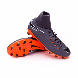 Zapatos de fútbol  Nike Hypervenom Phantom III Academy DF FG Niño Dark grey-Total orange-White