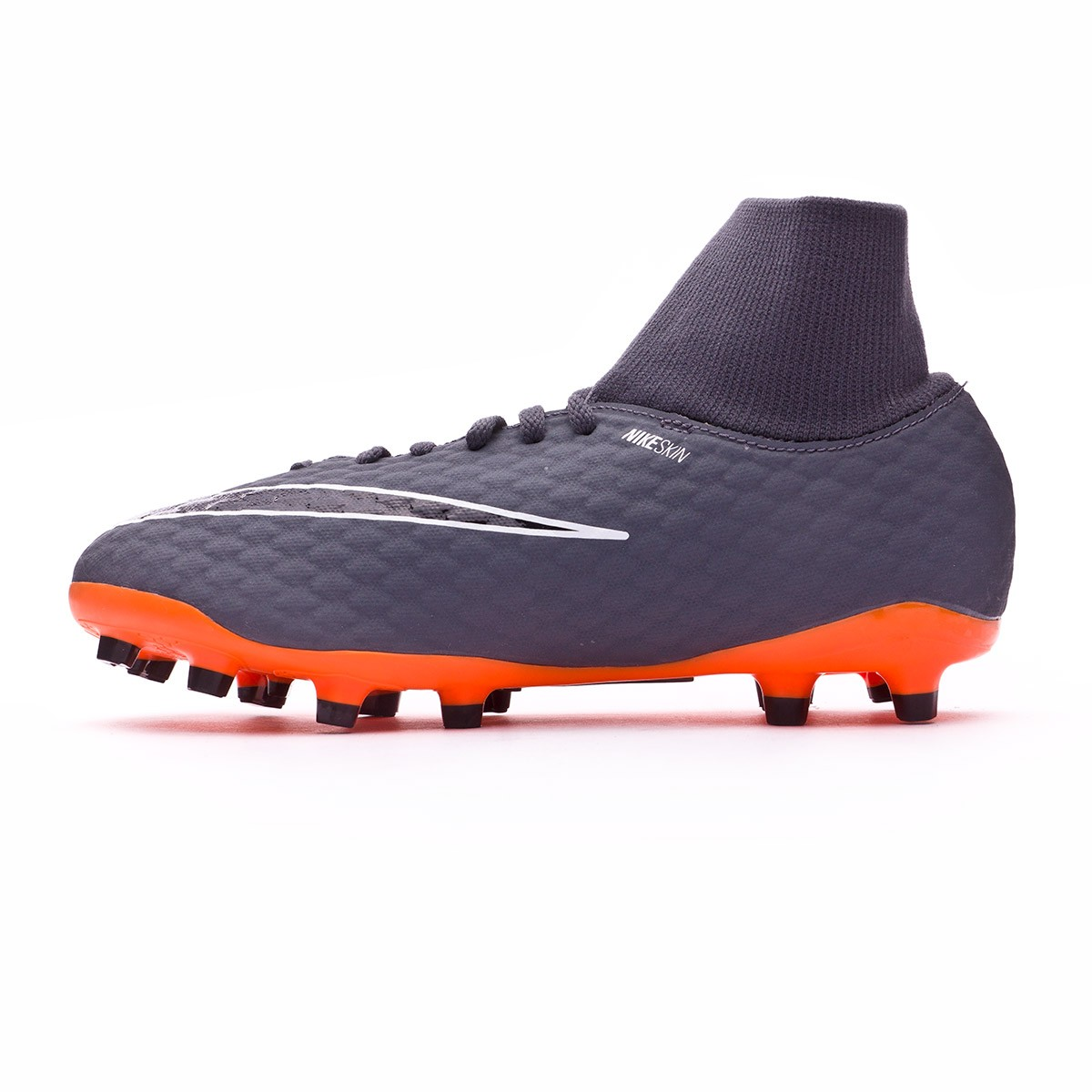 6cac9e97aed Football Boots Nike Kids Hypervenom Phantom III Academy DF FG Dark  grey-Total orange-White - Tienda de fútbol Fútbol Emotion