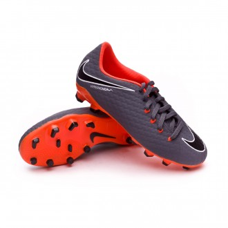 Zapatos de fútbol  Nike Hypervenom Phantom III Academy FG Niño Dark grey-Total orange-White