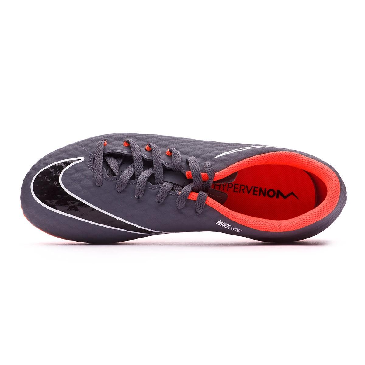 Bota de fútbol Nike Hypervenom Phantom III Academy FG Niño Dark grey