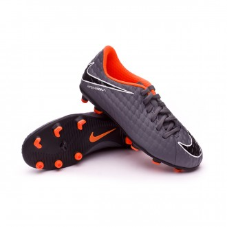 Zapatos de fútbol  Nike Hypervenom Phantom III Club FG Niño Dark grey-Total orange-White