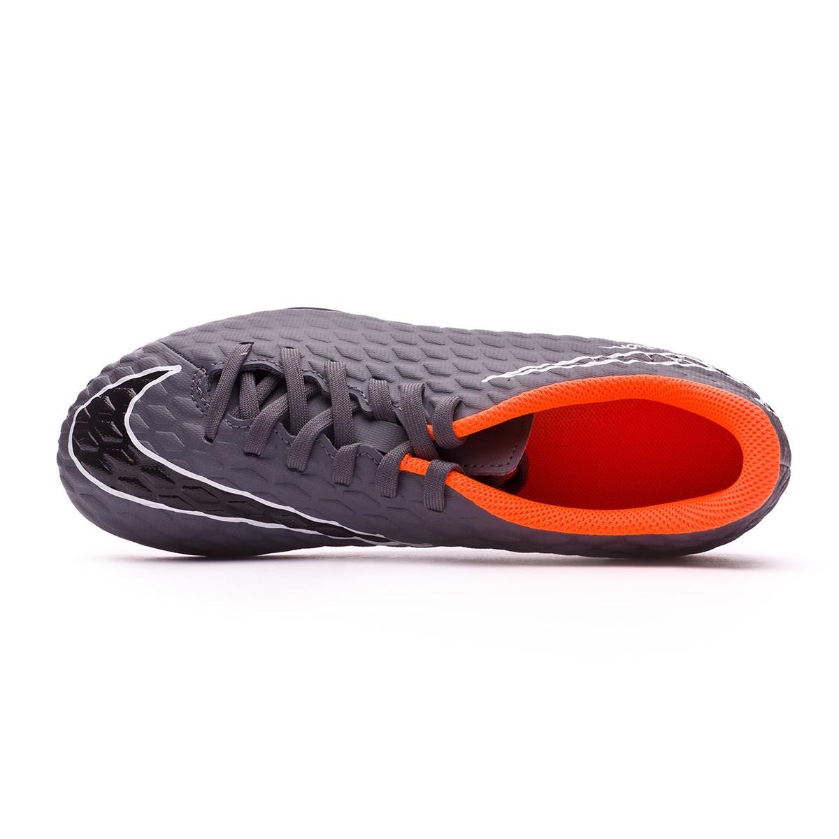 b7e0e3453 Football Boots Nike Kids Hypervenom Phantom III Club FG Dark grey-Total  orange-White - Football store Fútbol Emotion